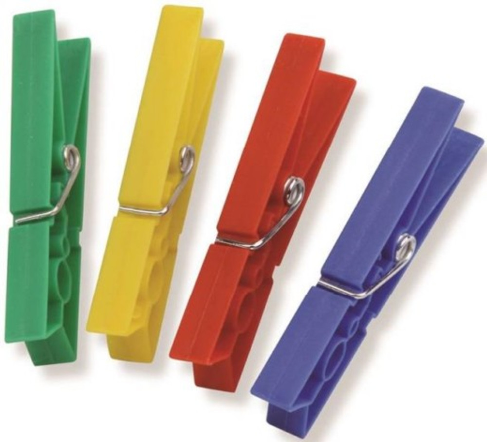 Clothespins, Plastic, 24 Pack