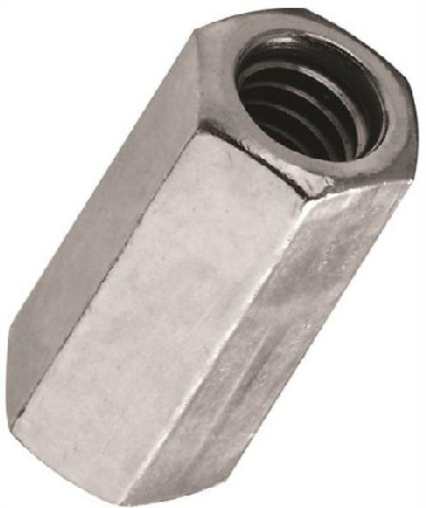 Coupling Nut, 10-24, Steel, Zinc Plated