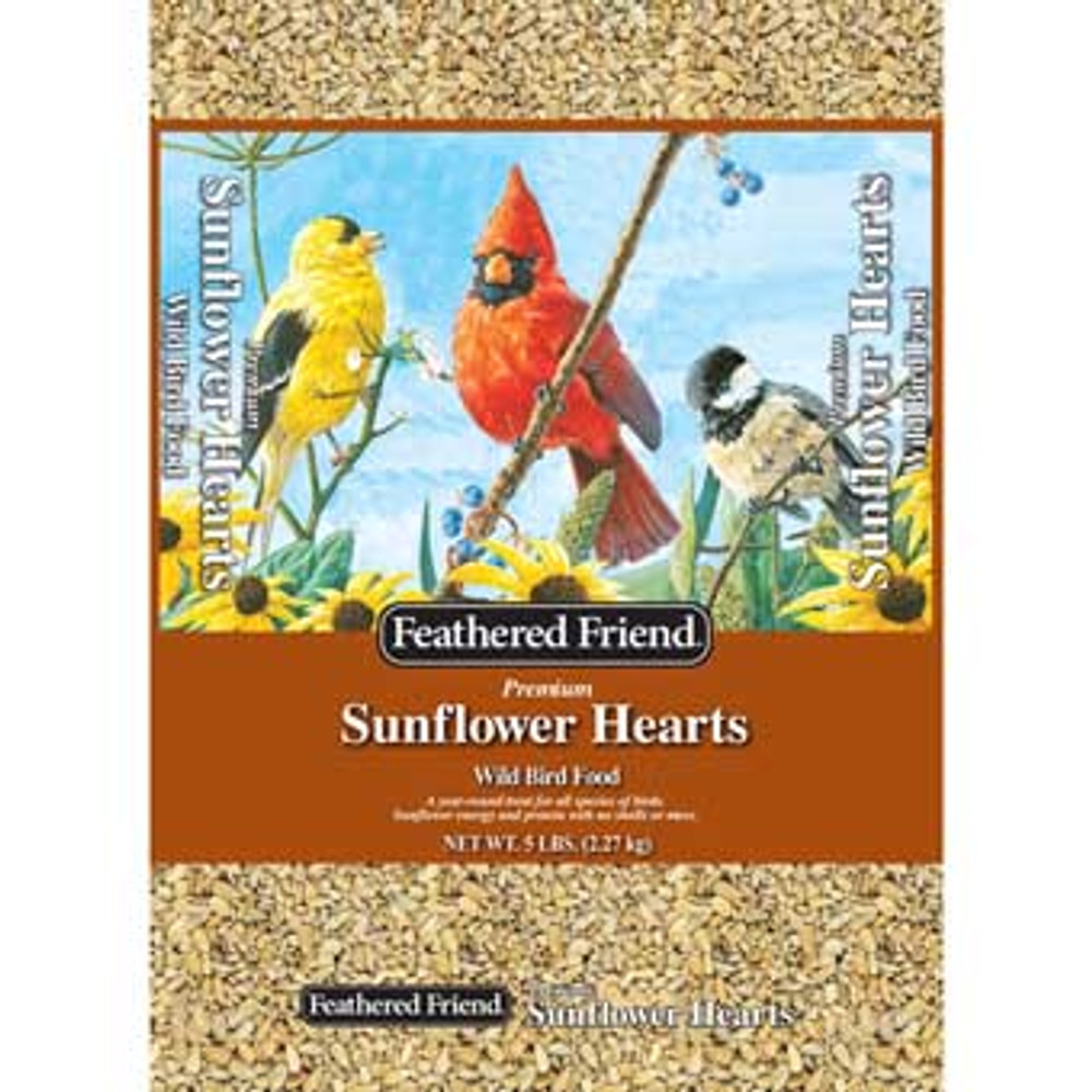 Feathered Friend Sunflower Hearts, 5 Lb
