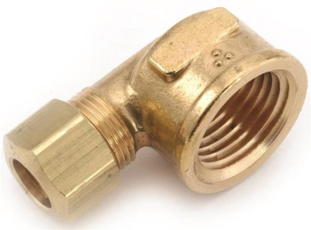 "Compression Fittings, 3/8"", Elbow x 3/8"" FPT, Brass"