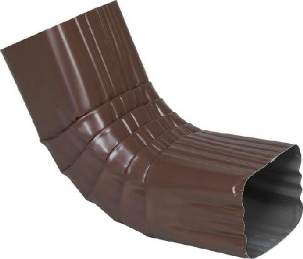 """Downspout """"A"""" Elbow 2"""" X 3"""" Brown"""