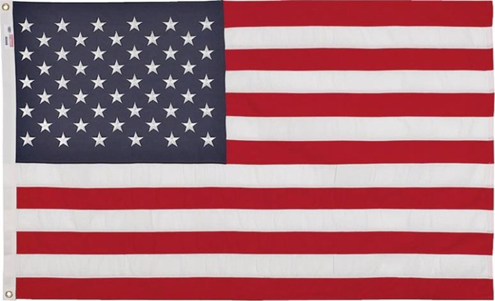 US Flag,  3' x  5', Nylon, Sewn Stars & Stripes