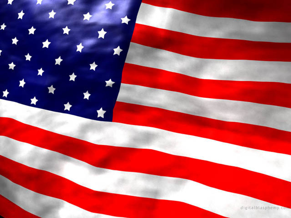 """US Flag, Banner Style, 29"""" x 50"""""""