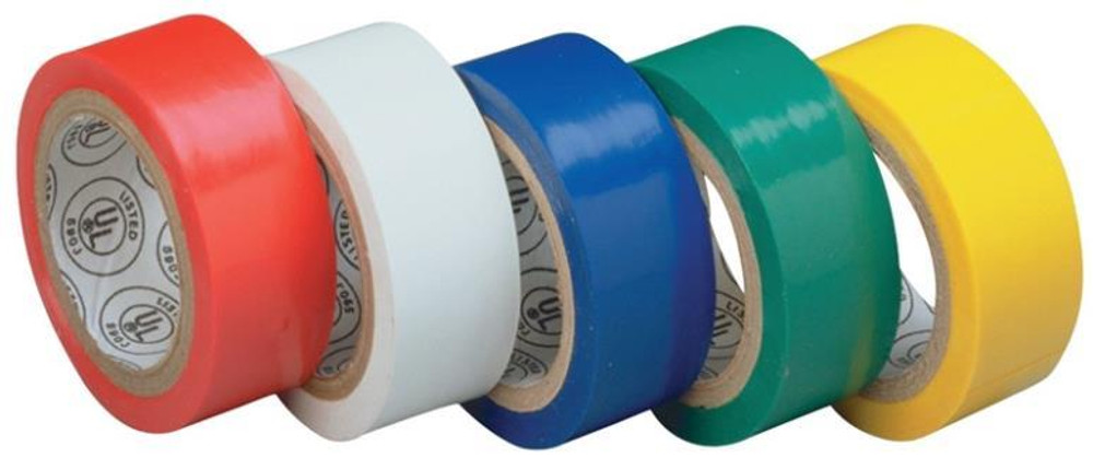 "Electrical Tape Assorted Colors. 3/4"" x 12' Each"