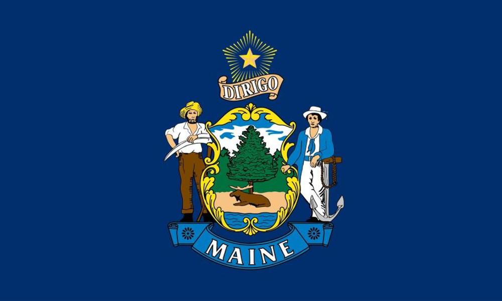 Maine State Flag, 3' x 5' Nylon