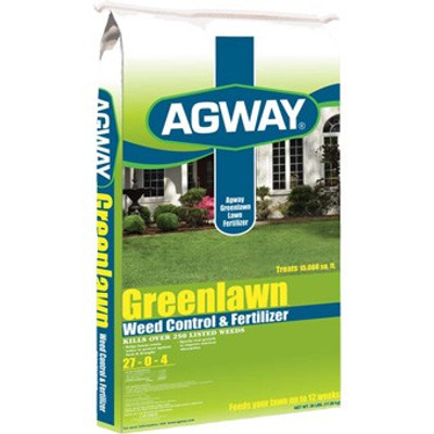 Lawn Fertilizer With Weed Control, 27-0-4, 13 lb