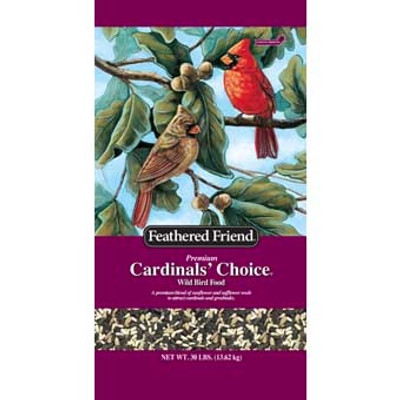 Feathered Friend, Cardinals Choice Wild Bird Food, 30 Lb
