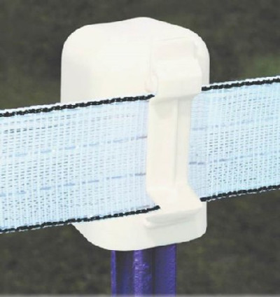 "Electric Fence T-Post Cap & Insulator, For Up To 2"" Poly Wire Tape"