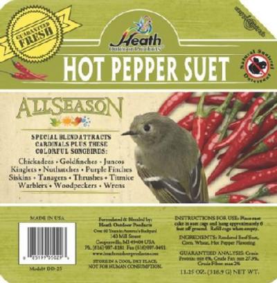 Heath All Season Hot Pepper Suet Cake, 11.25 Oz