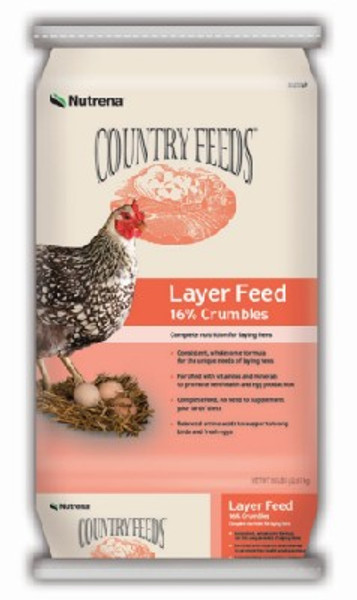Country Feeds Layer Crumble 16%, 50 Lb Bag