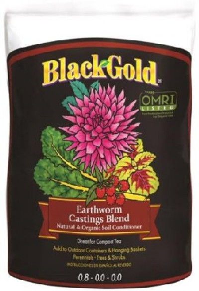 Black Gold, Organic Earthworm Castings 16 Qt, OMRI Certified