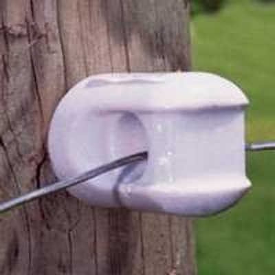 Electric Fence Wood Post Screw In Small Porcelain Insulator