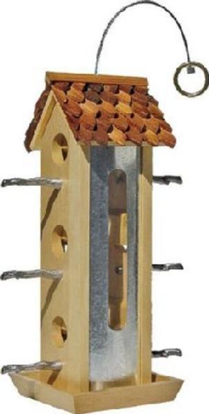 Wild Bird, Feeder, Wood Tin Jay