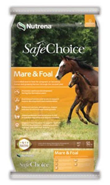SafeChoice Mare & Foal Horse Feed, 50 Lb