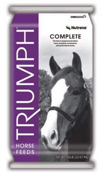 Triumph  Complete Pellet Horse Feed, 50 Lb, 12% Protein