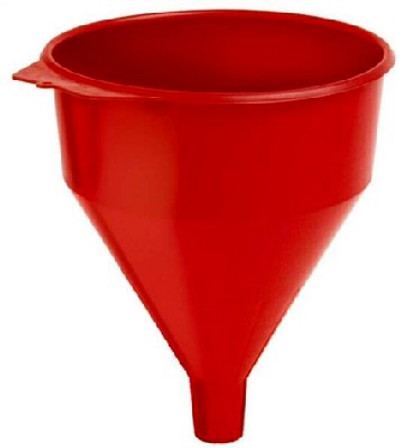 """Funnel, 9"""" x 11"""", 6 Quart, Polyethylene, Red, With Screen"""