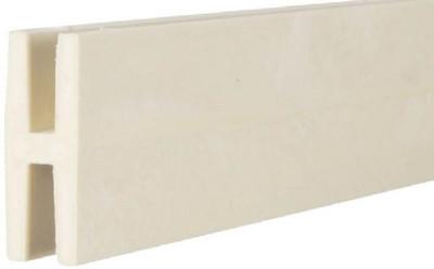 Plastic Lattice H Channel, 8'  White