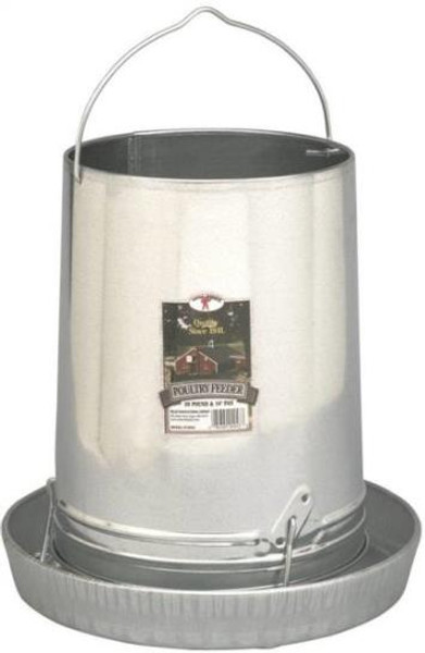 Poultry Hanging Feeder, Galvanized, 30 Lb Capacity