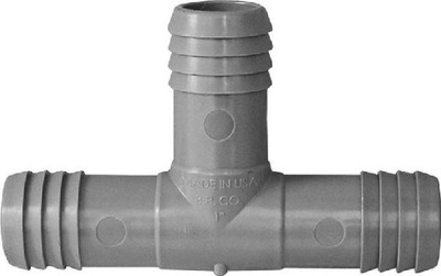 "Barbed Tube Fittings, 1"", Tee, Polypropylene"