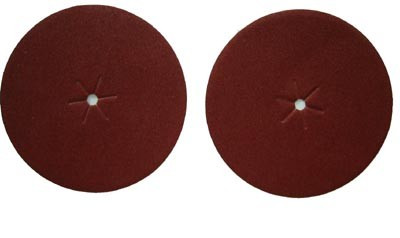 "3M, 7"" Center Hole Sanding Disc, 80 Grit, 4 Pack"