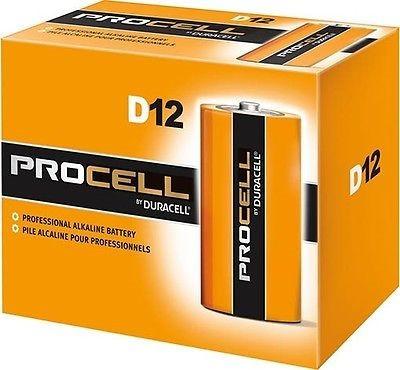 ProCell, D Bulk Battery, 12 Pack