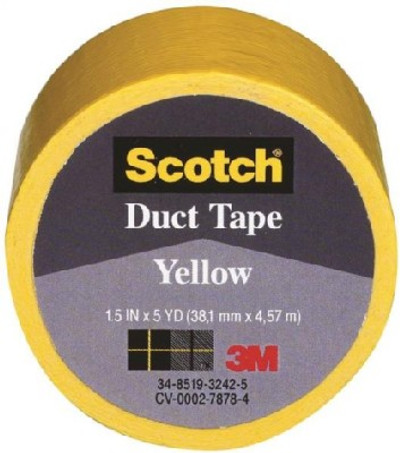 """Duct Tape, 1.5"""" X 5 Yards, Yellow"""