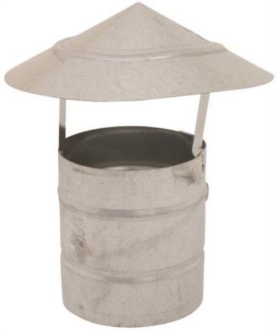 """Stove Pipe, Galvanized, 4"""", Roof Cap"""