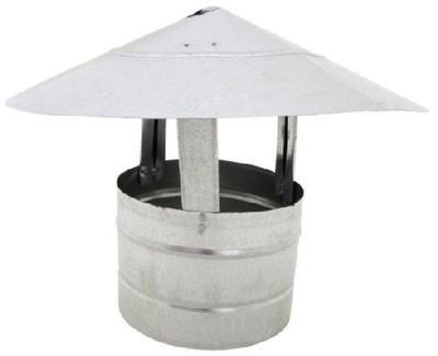 """Stove Pipe, Galvanized, Roof Cap, 6"""""""