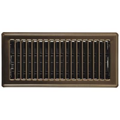 Floor Register, 2-1/4 in H x 12 in W, Steel, Brown