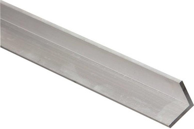 "Aluminum Angle, 1"" x 1/8"" x 72"", Mill Finish"