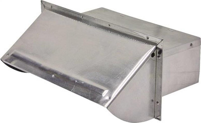 "Range Wall  Vent Cap, Aluminum, 3-1/4"" x 10"", Mill Finish"