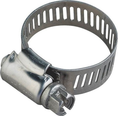 "Hose Clamp SS, # 104, 6-1/8"" - 7"", With Carbon Screw"