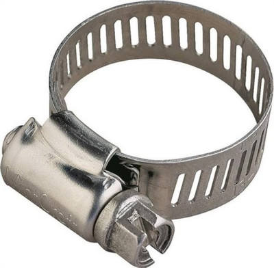 "Hose Clamp SS, #  02, 7/32"" - 5/8"", With Carbon Screw"