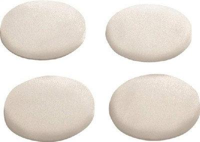 Furniture Bumper Pad, 1-1/4 in Dia, Clear, Round, 4 Pack
