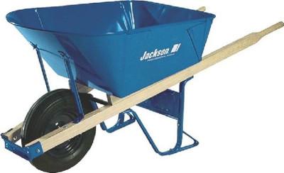 Wheelbarrow, 6 CuFt, Steel, Jackson, Heavy Duty