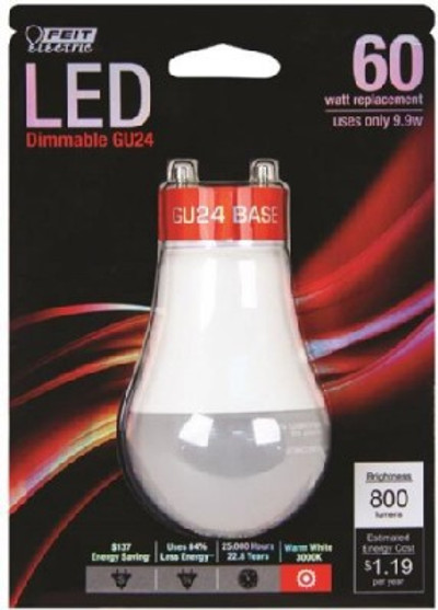 LED, GU24, Dimmable, 13.5 Watt, 800 Lumens