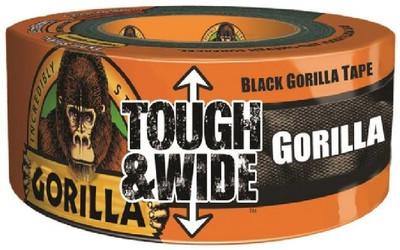 """Gorilla Tape 2.88"""" X 30 Yds Black, Heavy Duty Reinforced Duct Tape"""