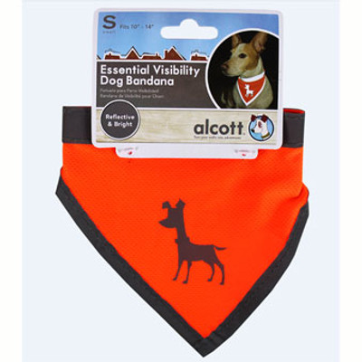 Dog, Bandana, Neon Orange, Small