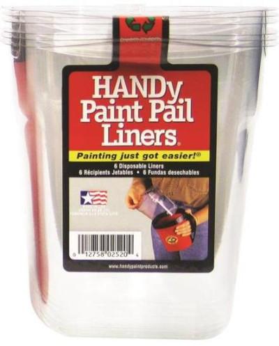 Handy Paint Pail Liners, Quart, 4 Pack