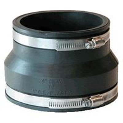 """Fernco 4"""" Clay To 4"""" PVC/Steel Coupling"""