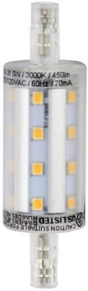 "LED, R7S, 5 Watts, 450 Lumens, 3.2"" x .875"""