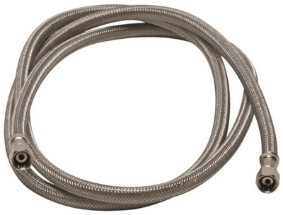 """SS, Ice Maker Supply Line,  6',  1/4"""" X 1/4"""" Compression"""