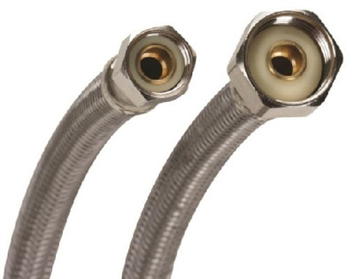 """SS, Supply Line, 3/8"""" Comp  x 1/2"""" FPT,  9"""""""