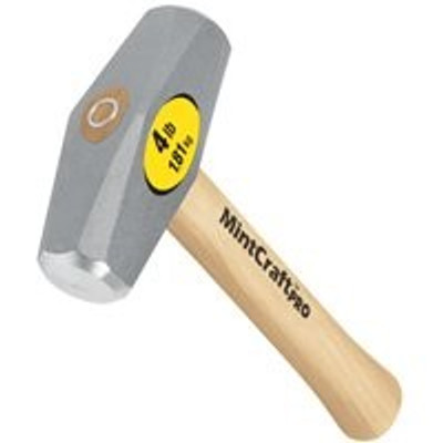 "Drilling Hammer, 4 LB, 10"" Hickory Handle"
