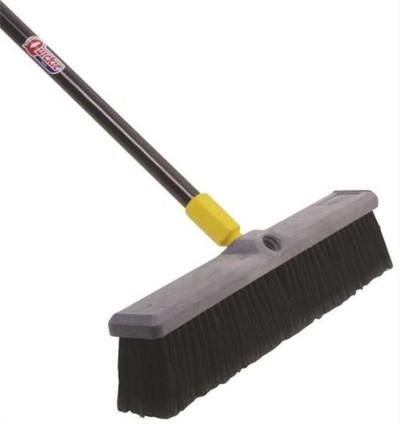 "Push Broom, 18"", Soft Bristle"