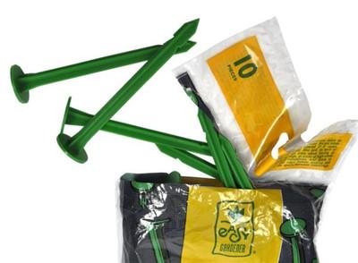 "Garden Fabric Plastic Pegs,  6"", 10 Pack"