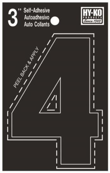"Boat Number, ""4"", Die Cut, 3"" High"