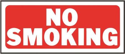 "No Smoking Sign, 14"" x 6"""