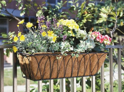 """Wall Planter W/Coconut Liner, 30"""" x 8"""" x 9"""""""