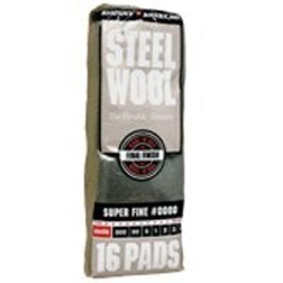 Steel Wool Pads, # 0000, 16 Pads